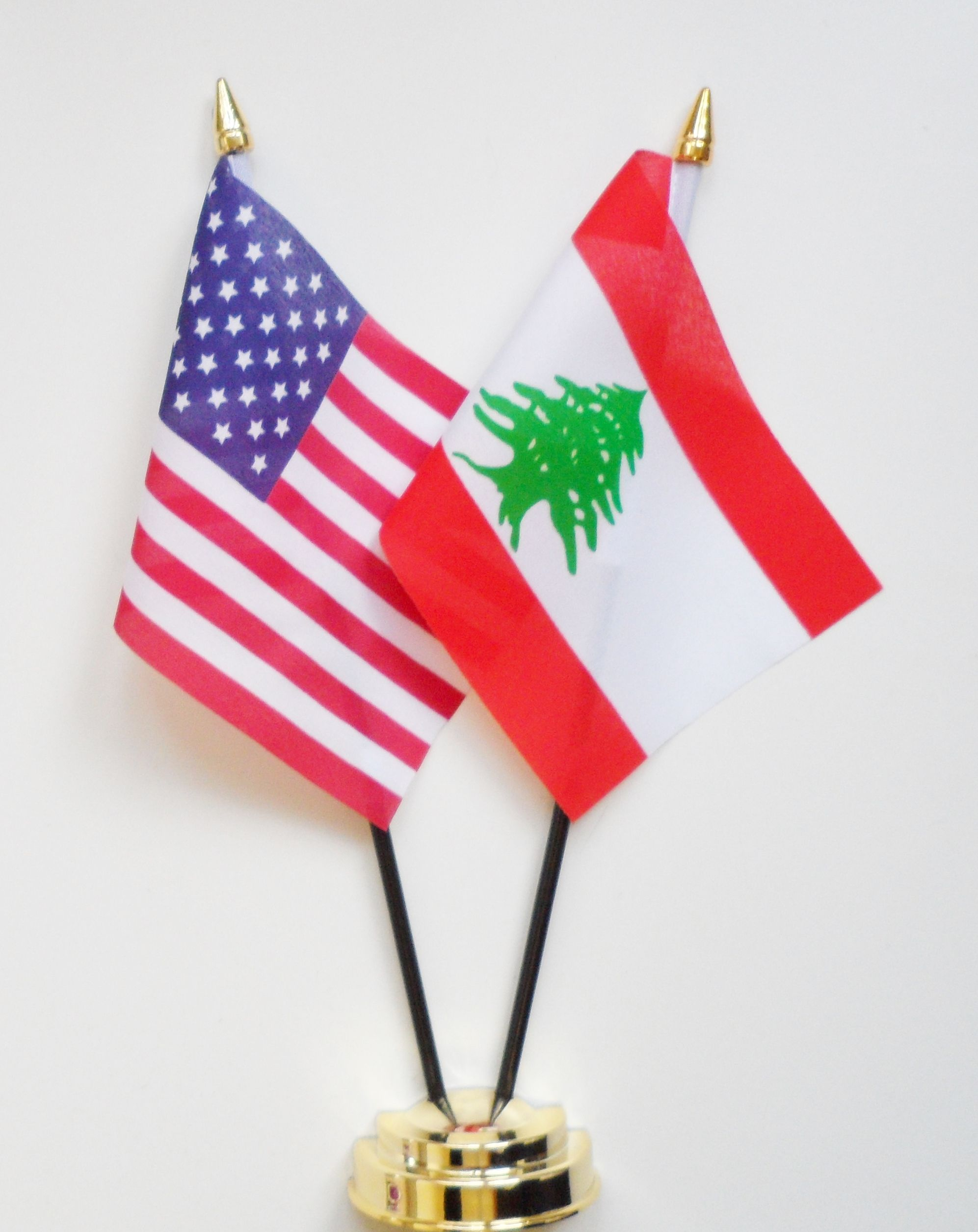 Lebanon (IN) United States  city photos gallery : United States of America & Lebanon Friendship Table Flag